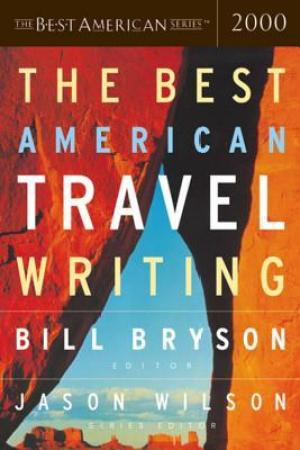 Reading books The Best American Travel Writing 2000