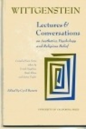 Reading books Lectures and Conversations on Aesthetics, Psychology and Religious Belief