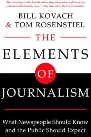Reading books The Elements of Journalism: What Newspeople Should Know and The Public Should Expect