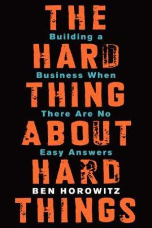 Reading books The Hard Thing About Hard Things: Building a Business When There Are No Easy Answers