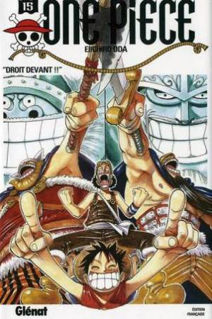 Reading books Droit devant (One Piece #15)