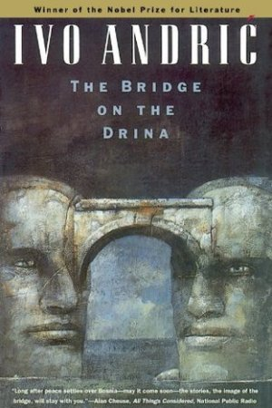 Reading books The Bridge on the Drina