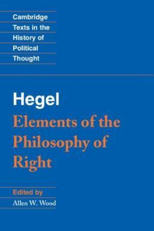 Reading books Elements of the Philosophy of Right