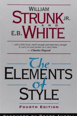 Reading books The Elements of Style
