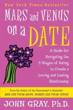 Reading books Mars and Venus on a Date: A Guide for Navigating the 5 Stages of Dating to Create a Loving and Lasting Relationship