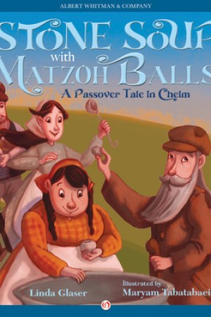 Reading books Stone Soup with Matzoh Balls: A Passover Tale in Chelm
