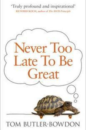 Reading books Never Too Late to be Great