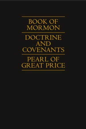 Reading books Book of Mormon, Doctrine and Covenants, Pearl of Great Price