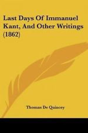 Reading books Last days of Immanuel Kant and other writings