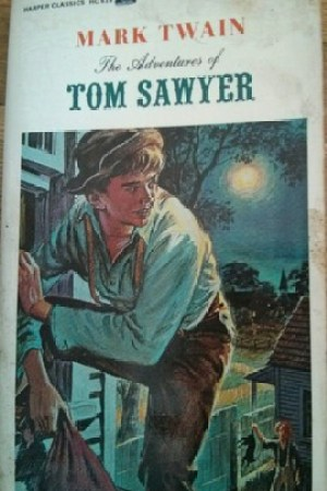 Reading books The Adventures of Tom Sawyer