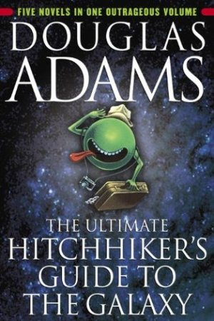 Reading books The Ultimate Hitchhiker's Guide to the Galaxy