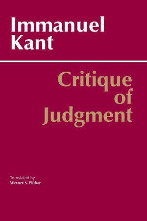 Reading books Critique of Judgment