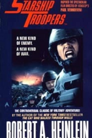 Reading books Starship Troopers