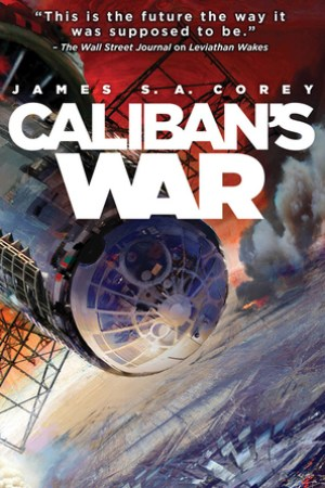 Reading books Caliban's War (The Expanse, #2)