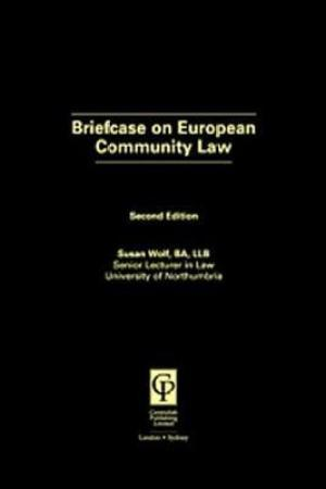 Reading books Briefcase on European Community Law