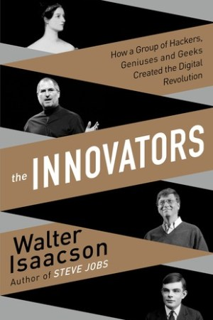 Reading books The Innovators: How a Group of Hackers, Geniuses and Geeks Created the Digital Revolution