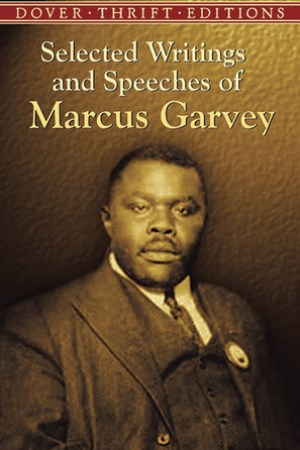 Reading books Selected Writings and Speeches of Marcus Garvey