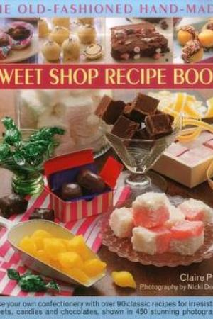 Reading books The Old-Fashioned Hand-Made Sweet Shop Recipe Book