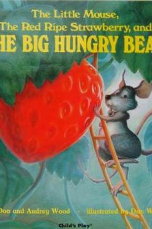 Reading books The Little Mouse, the Red Ripe Strawberry, and the Big Hungry Bear