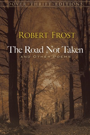 Reading books The Road Not Taken and Other Poems