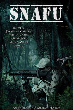 Reading books SNAFU: An Anthology of Military Horror