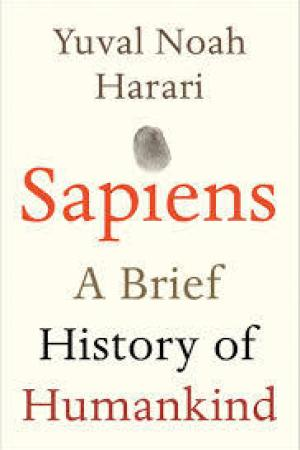 Reading books Sapiens: A Brief History of Humankind