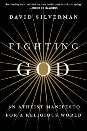 Reading books Fighting God: An Atheist Manifesto for a Religious World