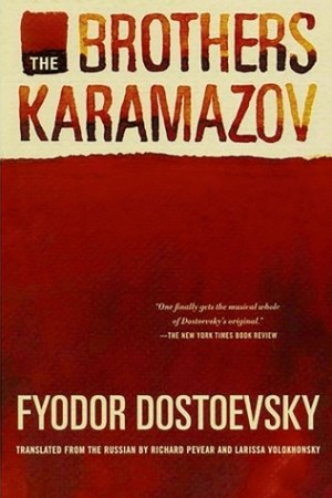 Reading books The Brothers Karamazov