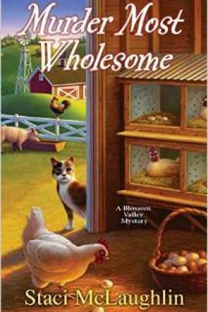 Reading books Murder Most Wholesome (A Blossom Valley Mystery, #5)