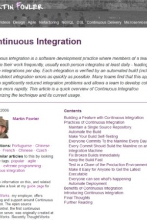 Reading books Continuous Integration
