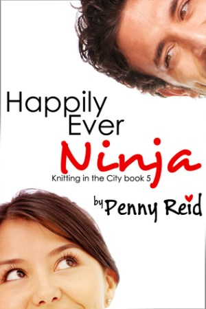 Reading books Happily Ever Ninja (Knitting in the City, #5)
