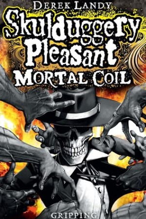 Reading books Mortal Coil (Skulduggery Pleasant, #5)