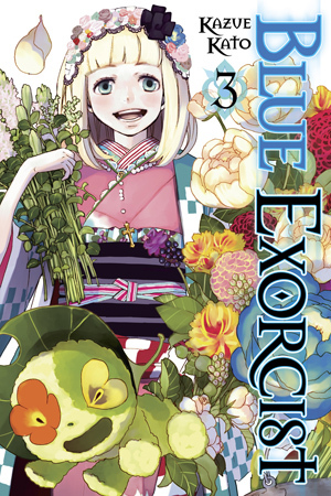 Reading books Blue Exorcist, Vol. 3