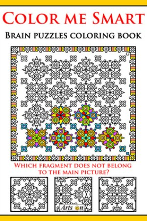 Reading books Color me Smart brain puzzles coloring book