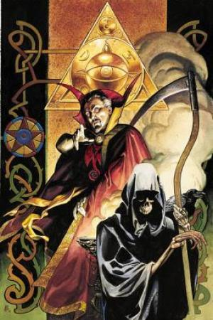 Reading books Doctor Strange: The Flight of Bones