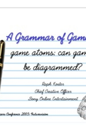 A Grammar of Game Play: How Games Work