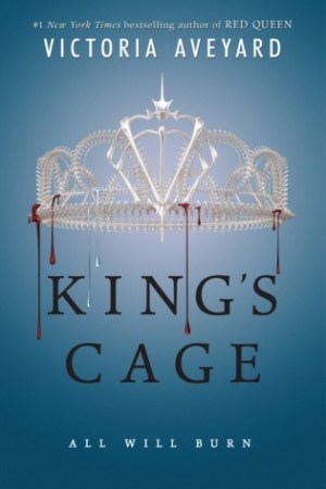 Reading books King's Cage (Red Queen, #3)