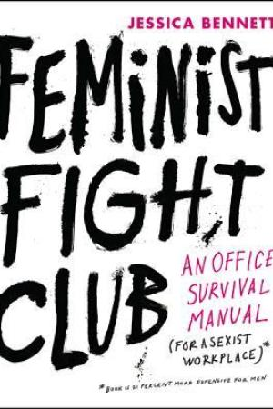 Reading books Feminist Fight Club: An Office Survival Manual for a Sexist Workplace
