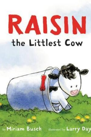 Reading books Raisin, the Littlest Cow