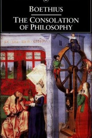 Reading books The Consolation of Philosophy