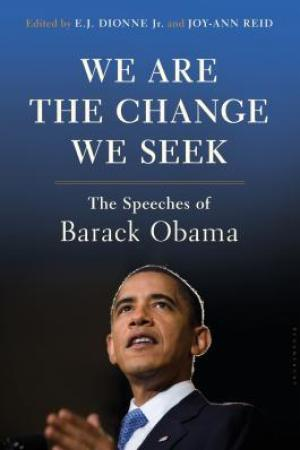 Reading books We Are the Change We Seek: The Speeches of Barack Obama