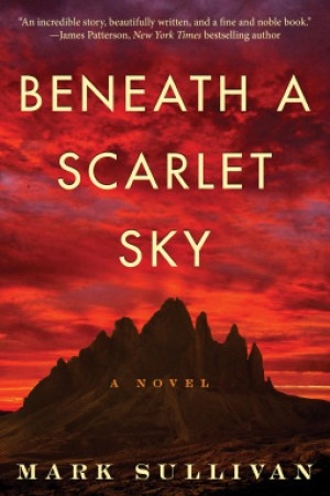 Reading books Beneath a Scarlet Sky