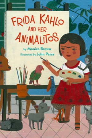 Reading books Frida Kahlo and Her Animalitos