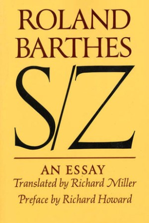 Reading books S/Z: An Essay