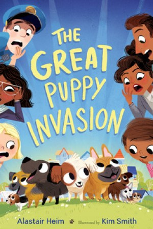 Reading books The Great Puppy Invasion