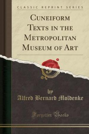 Reading books Cuneiform Texts in the Metropolitan Museum of Art (Classic Reprint)