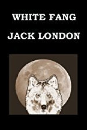 Reading books White Fang Jack London: Large Print Edition