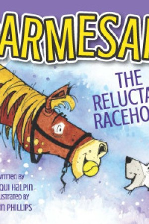 Reading books Parmesan, the Reluctant Racehorse