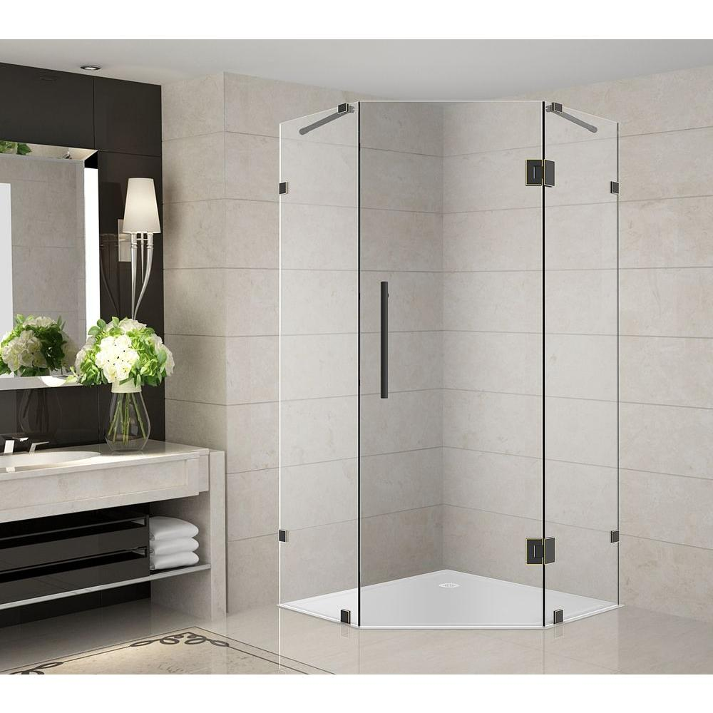 Thrifty Neoscape X X Completely Frameless Shower Doors Shower Doors Home  Depot Neo Angle Shower Walls Neo