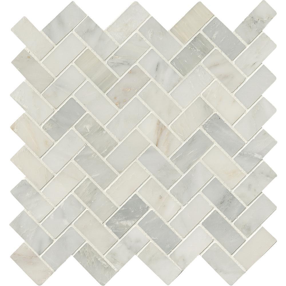 Excellent Msi Arabescato Carrara Herringbone Pattern X X Honedmarble Msi Arabescato Carrara Herringbone Pattern X X Herringbone Tile Pattern 12x24 Herringbone Tile Pattern Waste Factor houzz 01 Herringbone Tile Pattern